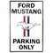 Ford Mustang Parking Only